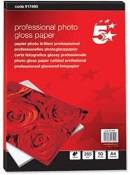 5 Star glossy fotopapier professional ft A4, 265 g, pak van 50 vel
