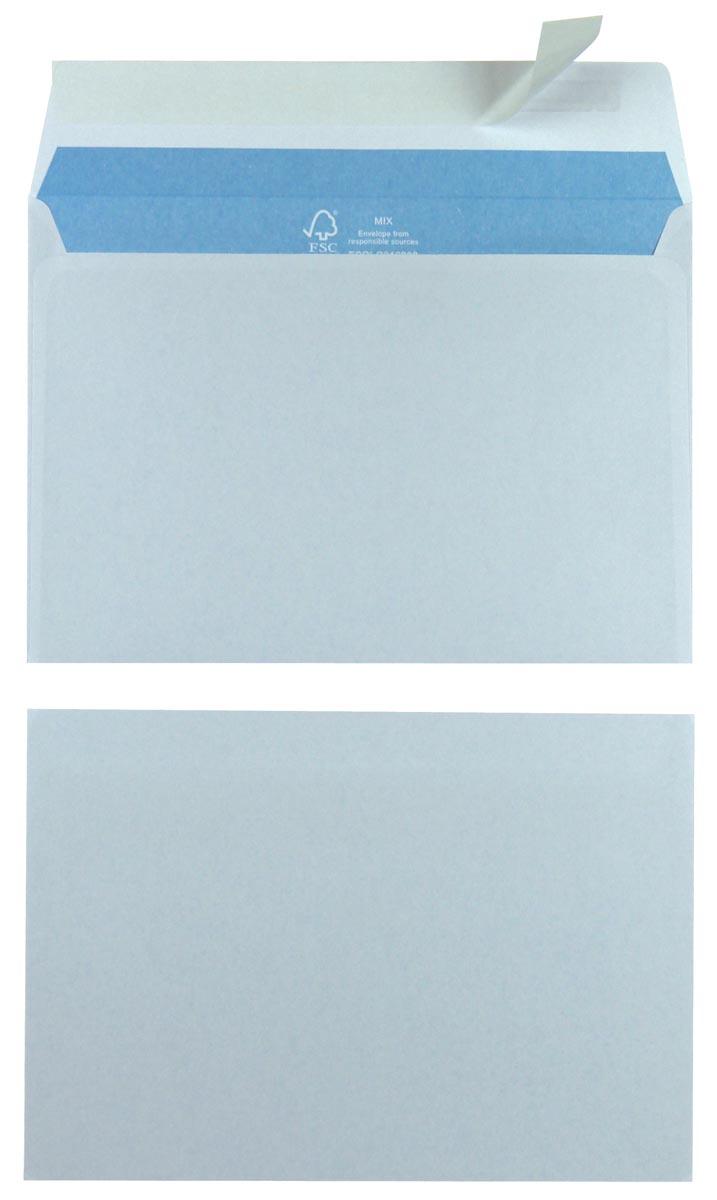 Enveloppen Ft 114 x 162 mm met stripsluiting, wit, doos van 500 stuks