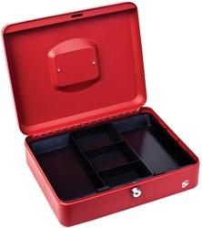 5 Star geldkoffer ft 30 x 9 x 24 cm, rood