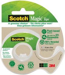 "Plakband Magic  Tape ""A greener choice"" ft 19 mm, 20 m, op dispenser van 100 % gerecycleerd plastic"