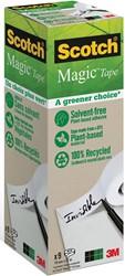 """Plakband Magic  Tape """"A greener choice"""" ft 19 mm x 33 m, toren met 9 rollen"""
