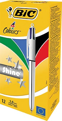Afbeelding van 4COLOURS SHINE SILVER BOX12 EU