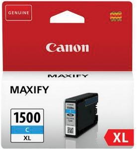 Canon inktcartridge PGI-1500XL, 1.020 pagina's, OEM 9193B001, cyaan