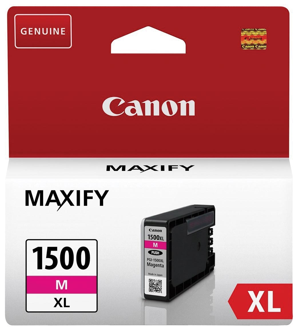 Canon inktcartridge PGI-1500XL, 780 pagina's, OEM 9194B001, magenta