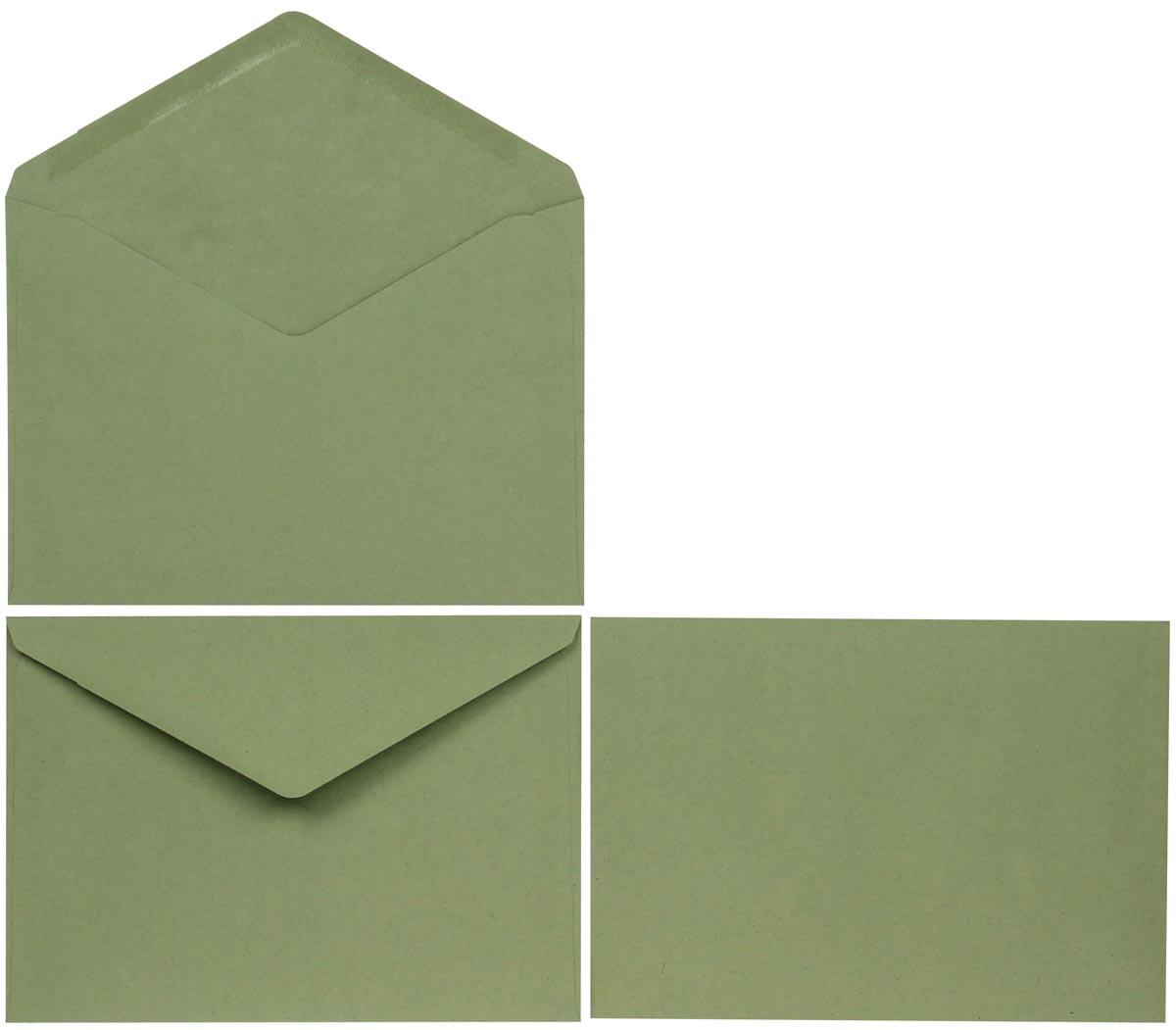 Bong enveloppen ft 114 x 162 mm zonder venster, gegomd, groen, doos van 1000 stuks