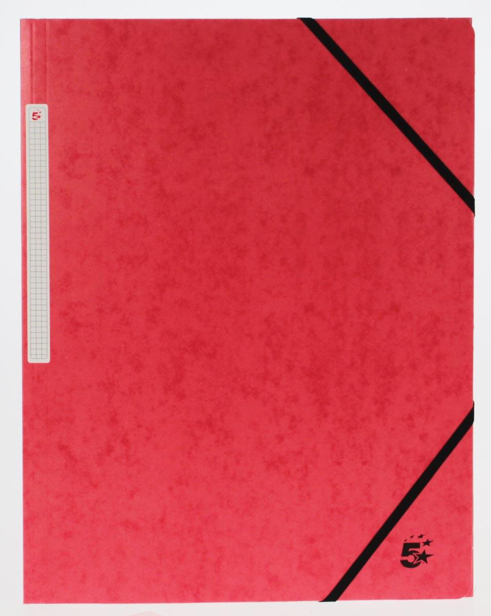 5 Star elastomap 3 kleppen rood, pak van 10 stuks