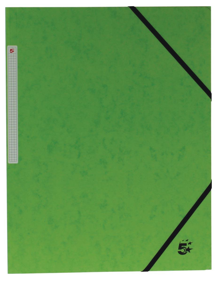 5 Star elastomap 3 kleppen groen, pak van 10 stuks