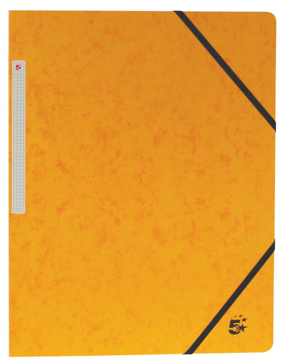 5 Star elastomap, ft A4 (24x32 cm), met elastieken zonder kleppen, geel, pak van 10 stuks