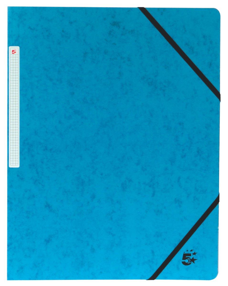 5 Star elastomap, ft A4 (24x32 cm), met elastieken zonder kleppen, donkerblauw, pak van 10 stuks