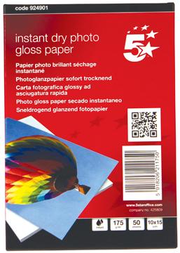 5 Star glossy fotopapier ft 10 x 15 cm, 175 g, pak van 50 vel