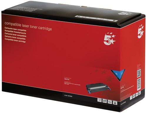 5 Star toner zwart, 6000 pagina's voor HP 501A - OEM: Q6470A