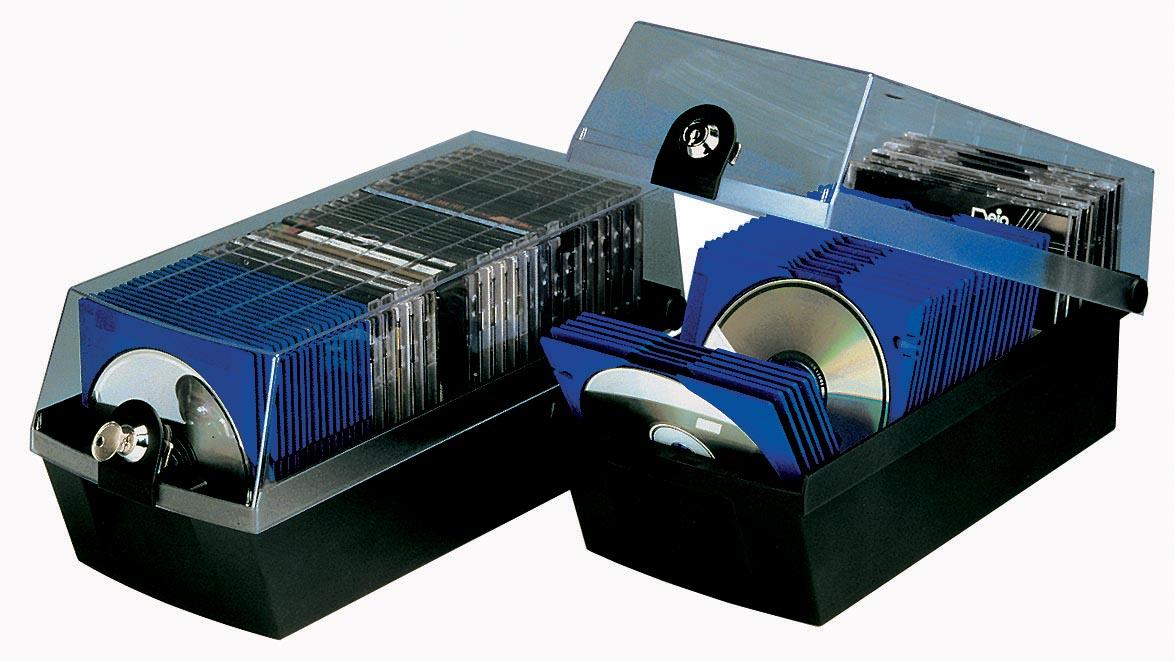 Han CD of DVD-opbergdoos M�x, zwart