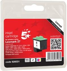 5 Star inktcartridge 3 kleuren, 140 pagina's voor Lexmark 27 - OEM: 10NX227E
