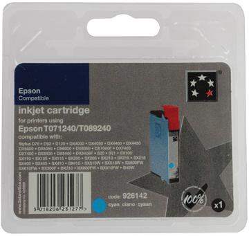 5 Star inktcartridge cyaan, 345 pagina's voor Epson T0712 - OEM: C13T07124011