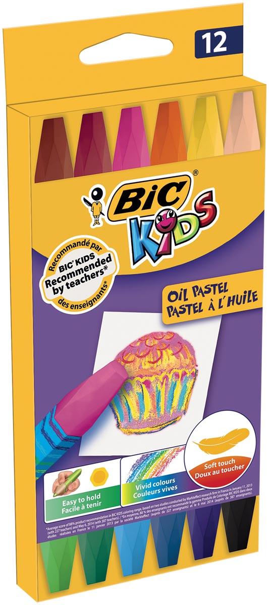 Bic Kids oliepastels, etui van 12 stuks