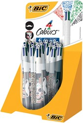 Bic balpen 4 Colours Decor, display met 20 stuks