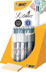 Bic balpen 4 Colours Decor, display met 20 stuks