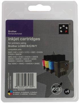 5 Star inktcartridge 4 kleuren, 400/500 pagina's voor Brother - OEM: LC900VALBP