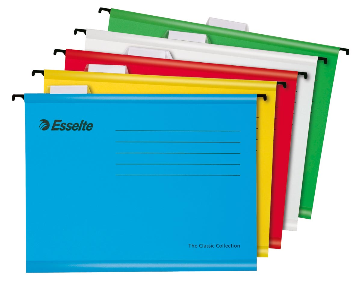 Esselte hangmap Pendaflex Economy, geassorteerde kleuren, pak van 10 stuks