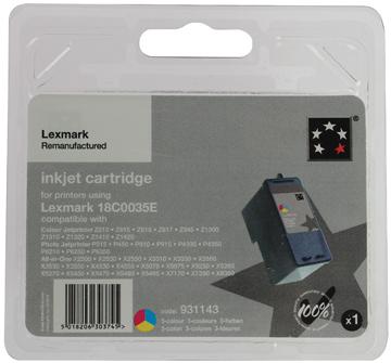 5 Star inktcartridge 3 kleuren, 450 pagina's voor Lexmark 35XL - OEM: 18C0035E