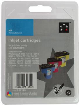 5 Star inktcartridge 3 kleuren, 1270 pagina's voor HP 363 - OEM: CB333EE