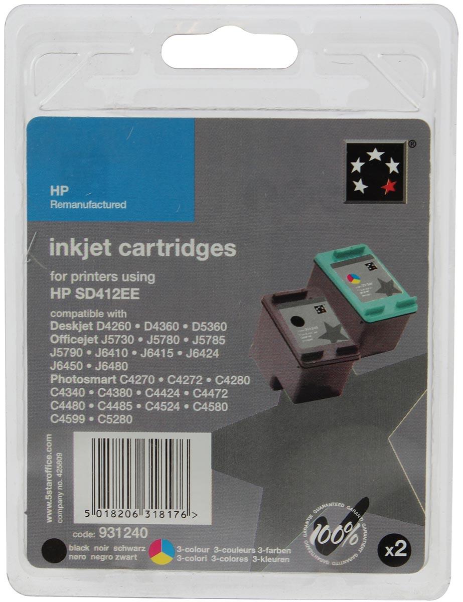 5 Star inktcartridge 4 kleuren, 200/170 pagina's voor HP 350/351 - OEM: SD412EE