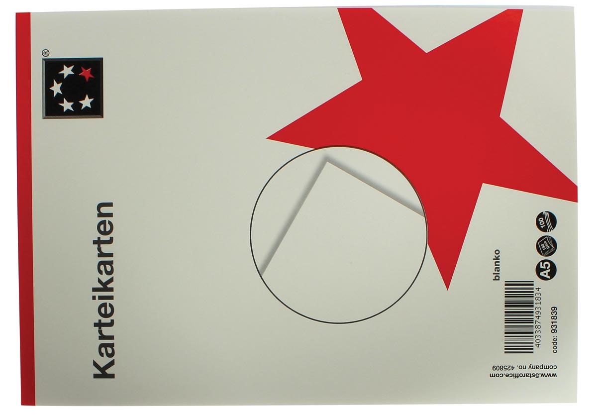 5 Star witte systeemkaarten ft A5, blanco, 100 stuks