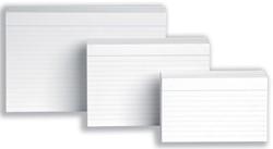 5 Star witte systeemkaarten ft A4, gelijnd, 100 stuks