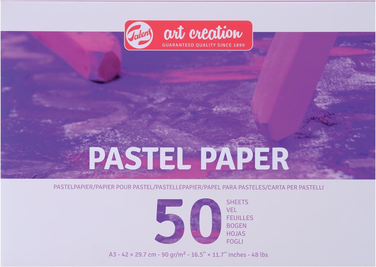 Talens Art Creation pastelpapier, 90 g/m², ft A3, blok met 50 vellen