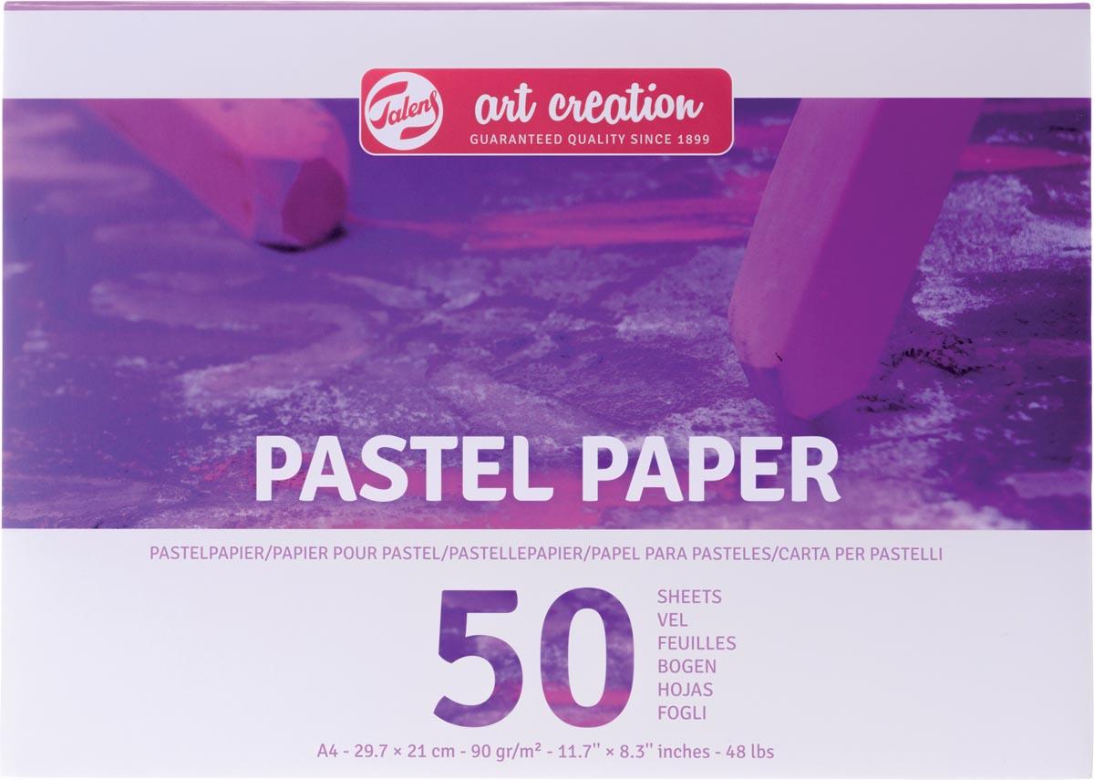 Talens Art Creation pastelpapier, 90 g/m², ft A4, blok met 50 vellen