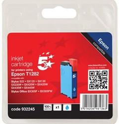 5 Star inktcartridge cyaan, 175 pagina's voor Epson T1282 - OEM: C13T12824011