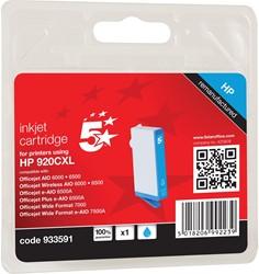 5 Star inktcartridge cyaan, 700 pagina's voor HP 920XL - OEM: CD972AE