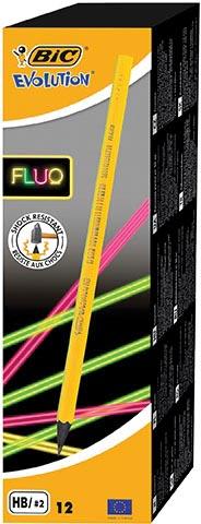 Bic potlood Evolution fluo zonder gum, doos met 12 stuks