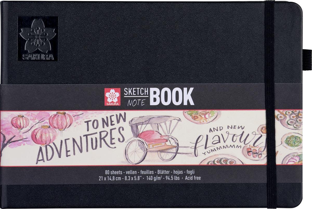 Sakura schetsboek Note, wit, ft A5