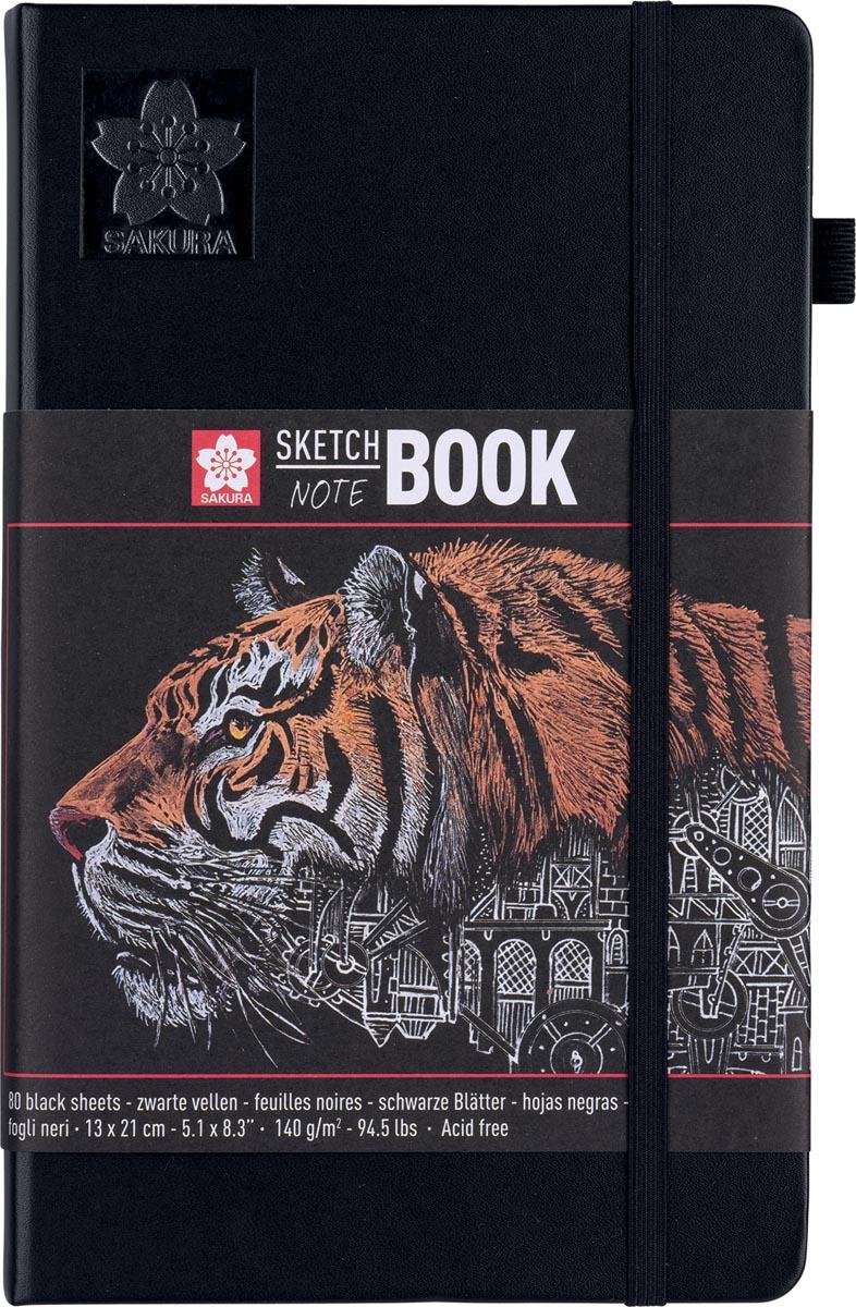 Sakura schetsboek Note, zwart, ft 13 x 21 cm