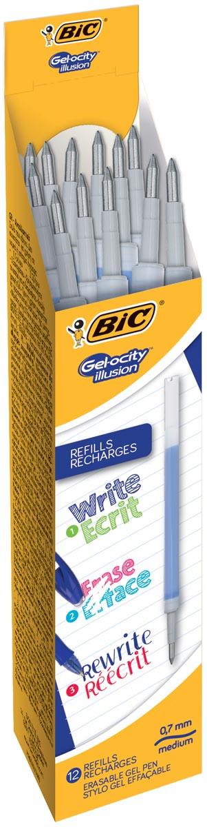 Bic vulling voor gelroller Gel-ocity illusion, doos met 12 stuks, blauw