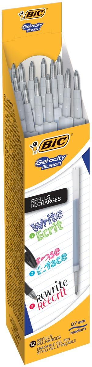 Bic vulling voor gelroller Gel-ocity illusion, doos met 12 stuks, zwart