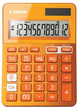 Canon mini bureaurekenmachine LS-123K oranje