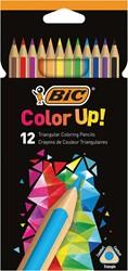 Bic kleurpotloden Color Up, ophangdoos met 12 stuks in geassorteerde kleuren