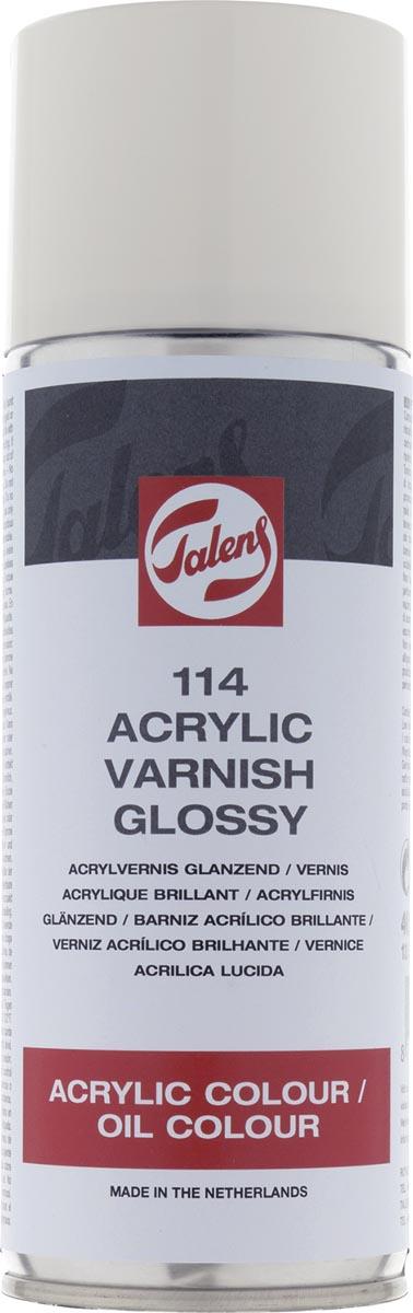 Talens acrylvernis glanzend, spray van 400 ml
