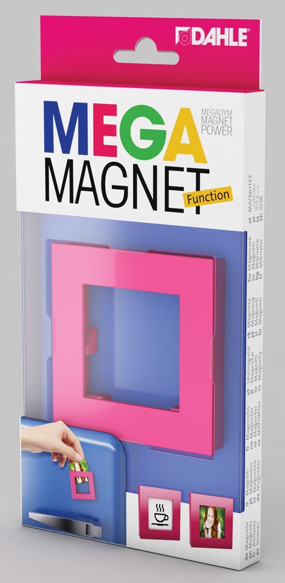 Dahle Mega Magnet Square, Neodymium magneet, vierkant, roze