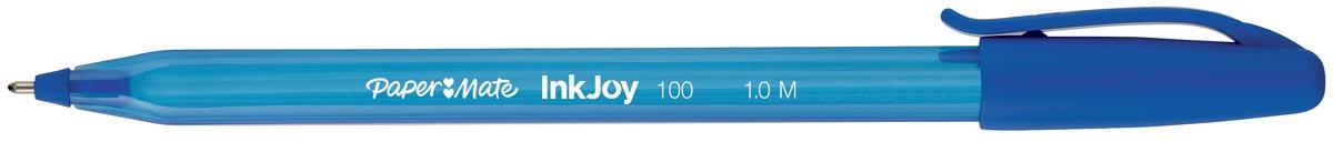 Paper Mate balpen InkJoy 100 met dop, blauw