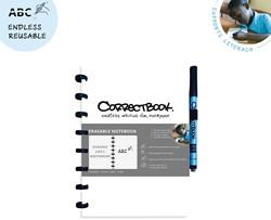 Correctbook A5 gelijnd herbruikbaar schrift, wit
