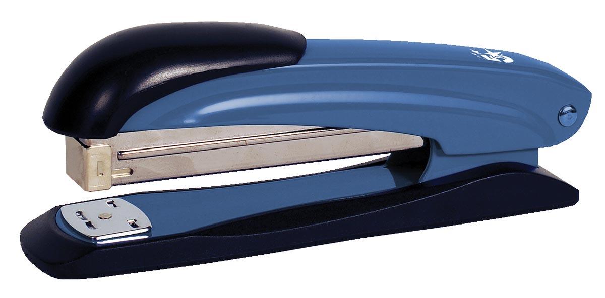 STAR nietmachine half strip, 25 blad, blauw