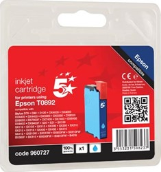 5 Star inktcartridge cyaan, 170 pagina's voor Epson T0892 - OEM: C13T08924011
