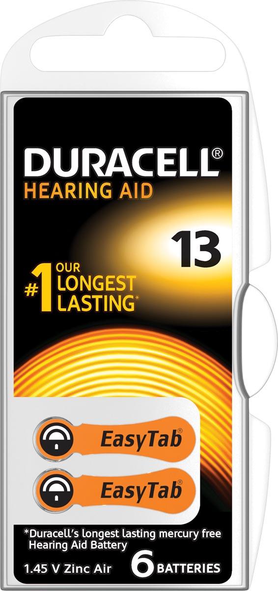 Duracell hoortoestelbatterijen DA13, blister van 6 stuks