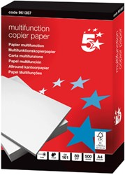 5 Star multifunction kopieerpapier ft A4, 80 g, pak van 500 vel