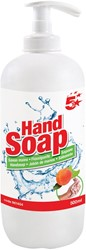 5 Star handzeep, perzikgeur, flacon van 500 ml