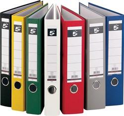 5 Star ordner, ft A4, rug van 8 cm, uit PP en papier, geassorteerde kleuren