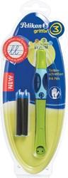 Pelikan roller Griffix voor linkshandigen, groen, op blister